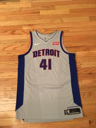 Jameer Nelson Detroit Pistons Nba Nike Aeroswift 2018 Game Worn Jersey Size 52