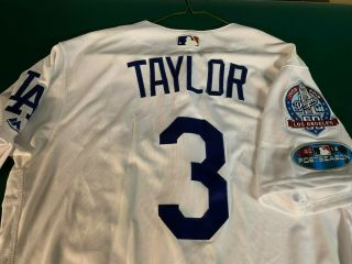 Chris Taylor Game Dodgers Jersey - Mariners - Blue Jays
