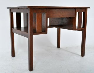 Antique L & J.  G.  Stickley Handcraft Mission Oak Arts & Crafts Desk Library Table
