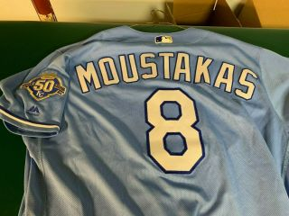 Royals Game Spring Training Jersey Patch - Moustakas - Brewers - Jays