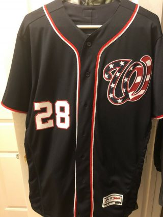 Washington Nationals Jason Werth Authentic Patriotic Team Jersey