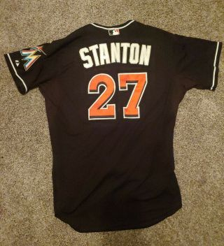 2015 Giancarlo Stanton Game Issued Miami Marlins Alternate Jersey