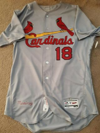 2017 Carlos Martinez St Louis Cardinals Game Worn Jersey Mlb Authenticated