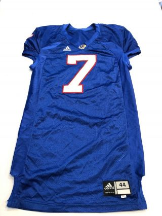 Game Worn Kansas Jayhawks Ku Football Jersey Adidas Size 44 7 Nick Reid