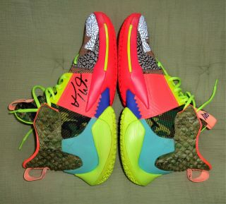 Russell Westbrook All Star Model Game Nike Jordan Basketball Shoes Hand Signed