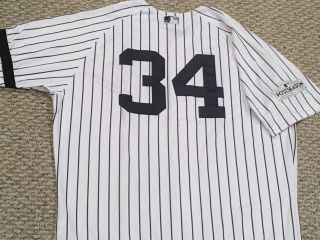 Garcia 34 Sz 48 2017 Yankees Game Jersey Home Black Band Post Steiner Mlb
