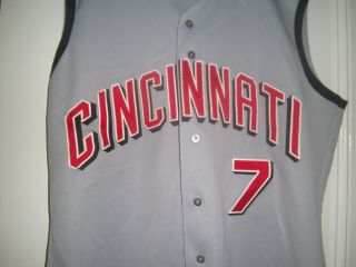 2000 Alex Ochoa Cincinnati Reds Signed Game Worn Road Jersey
