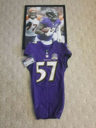 2015 Baltimore Ravens Game Worn Cj Mosley Jersey Nfl Unwashed Jets
