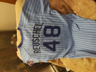 Rick Reuschel Game Worn Chicago Cubs Jersey 1980 Wilson 48