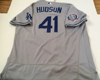 Game Used/issued Daniel Hudson La Dodgers Jersey Mlb Authenticated Nationals