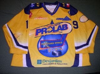 Rushton Thetford Mines Prolab Video Matched Game Worn Jersey Lnah Customizations