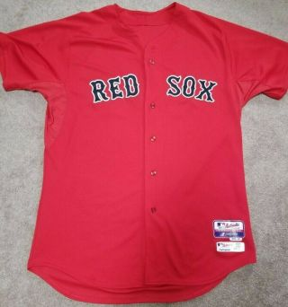 2014 Boston Red Sox Game Issued Jersey With Mlb Size 48