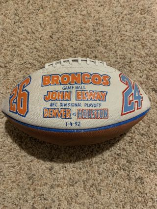 "John Elway Game Nfl Football 1/4/1992 Denver Broncos Div Round Win ""the Drive 2"""
