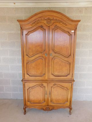 """Thomasville French Louis Xv Style Linen Press Armoire Chest Cabinet 82.  5 """" H X 43 """""""