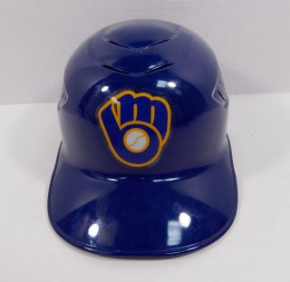 2017 Milwaukee Brewers Andrew Susac 13 Game Issued Navy Rbg Catching Helmet