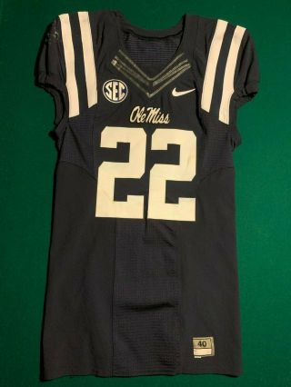 Ole Miss Rebels Jordan Wilkins Or Ray Smith Game Worn Nike Blue Flywire 22 Colts