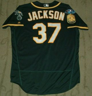 Edwin Jackson Oakland Athletics 2018 Game Worn Jersey (dodgers Tigers)