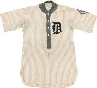 & Vintage 1920s Detroit Tigers Ty Cobb Style Jersey By Spalding