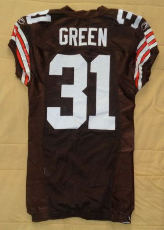 William Green Game Worn 2004 Cleveland Browns Jersey W/ Al Patch