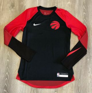 Nike Nba Dri - Fit Toronto Raptors Game Warm Up Shooting Practice Men's Size Small