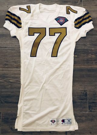 Champion Orleans Saints Willie Roaf 1994 75th Throwback Game Jersey