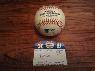 Justin Verlander Astros Game Strikeout Baseball 8/21/2019 K 2938 Cy Young