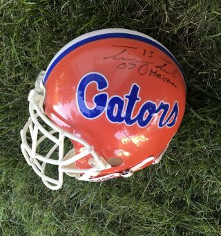 2007 U Of Florida Game Football Helmet - Autographed By Tim Tebow