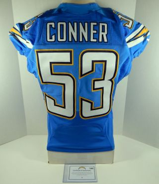 2013 San Diego Chargers Kavell Conner 53 Game Issued Light Powder Blue