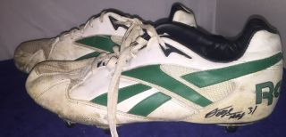 George Teague Green Bay Packers Game Signed Autographed Cleats W/coa Proof