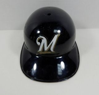 2018 Milwaukee Brewers Game Issued Navy Catching Helmet Brew221