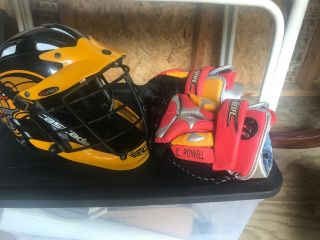 Rochester Rattlers Casey Powell Gloves And Helmet Major League Lacrosse Syracuse