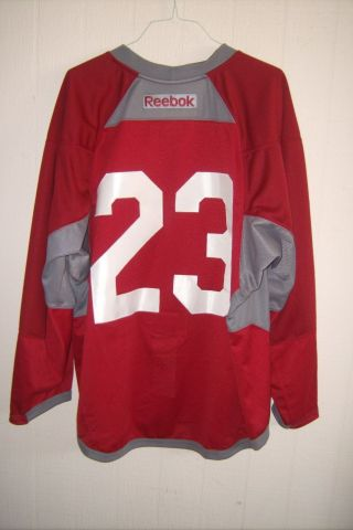 Arizona Coyotes Oliver Ekman - Larsson Worn Red 23 Practice Jersey From 2013 - 2017