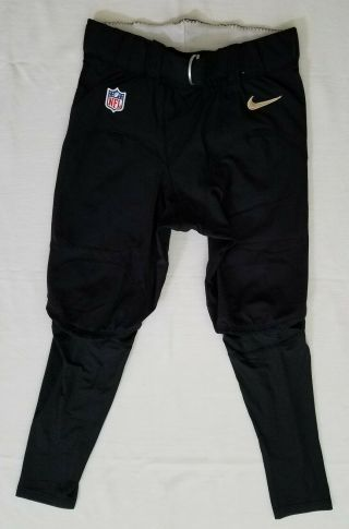 53 Of Orleans Saints Nfl Game Issued Football Pants - Size 34 Short
