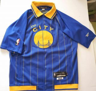 Rare Golden State Warriors 2004 - 05 Game Worn The City Warmup Jacket Db