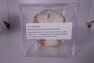 Pete Alonso Rookie Game Baseball From Career Game 3 Mets Mlb Authenticated