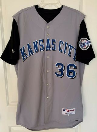 Kansas City Royals Paul Byrd 36 Majestic Team - Issued Gray Road Jersey (size 46)