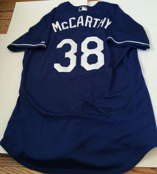 Brandon Mccarthy Game Used/issued La Dodgers Bp Jersey Mlb Authenticated Yankees