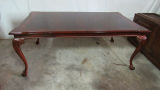 Thomasville Flame Mahogany Dining Room Table Chippendale