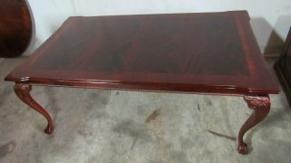 Thomasville Flame Mahogany Dining Room Table Chippendale 3