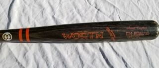 1984 Tom Brookens Issued Game Bat By Rookie Doug Baker Detroit Tigers Team