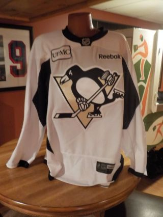 Game Game Issued Pittsburgh Penguins Authentic Practice Jersey White 4xl 58