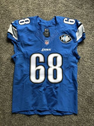 Taylor Decker Team Issued Detroit Lions Jersey Ohio State