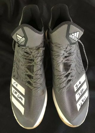 Tim Anderson Signed 2018 Game Cleats May 25 - 26 3 Hr 6 Rbi 5 - 8 Beckett