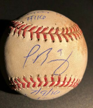 2016 Chicago Cubs Game Hit Ball Auto Signed Javier Baez El Mago All - Star