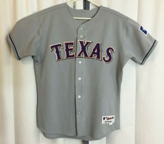 Texas Rangers Game 04390 Mlb 58 Brian Shouse Autographed Sz 46 2004 Jersey