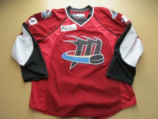 Game Worn Mike Mclean Lake Erie Cleveland Monsters Ahl Jersey 2008 - 2009