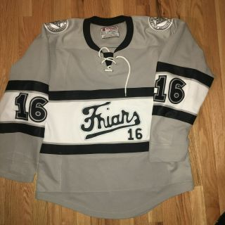 Providence College Game Worn Jersey All Sewn 7 Grey Alt Frozen Fenway