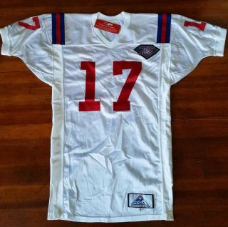 England Patriots 1994 Game Issued Throwback Jersey 17 Antonio Brown Size 48