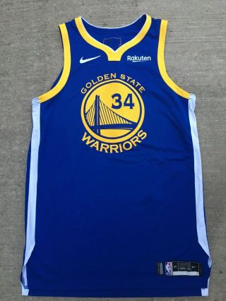 Shaun Livingston Game Issued 2019 Golden State Warriors Finals Jersey Game Worn