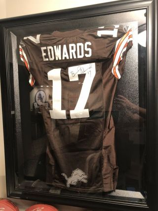 Braylon Edwards Game Issued Jersey Autographed Jsa Cleveland Browns Game Worn